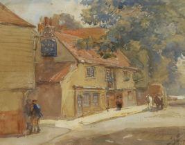 John Atkinson (Staithes Group 1863-1924): 'The Lamb Tap Inn'