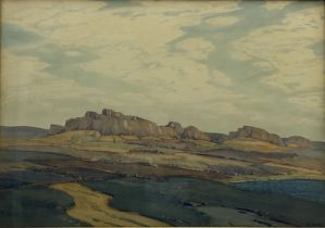 Hirst Walker (Staithes Group 1868-1957): 'The Hills of Gay Gordon'