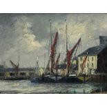 Jack Rigg (British 1927-): 'Thames Barges'