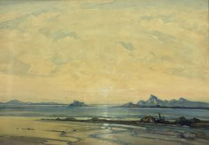 Hirst Walker (Staithes Group 1868-1957): 'Sunset in the Hebrides'