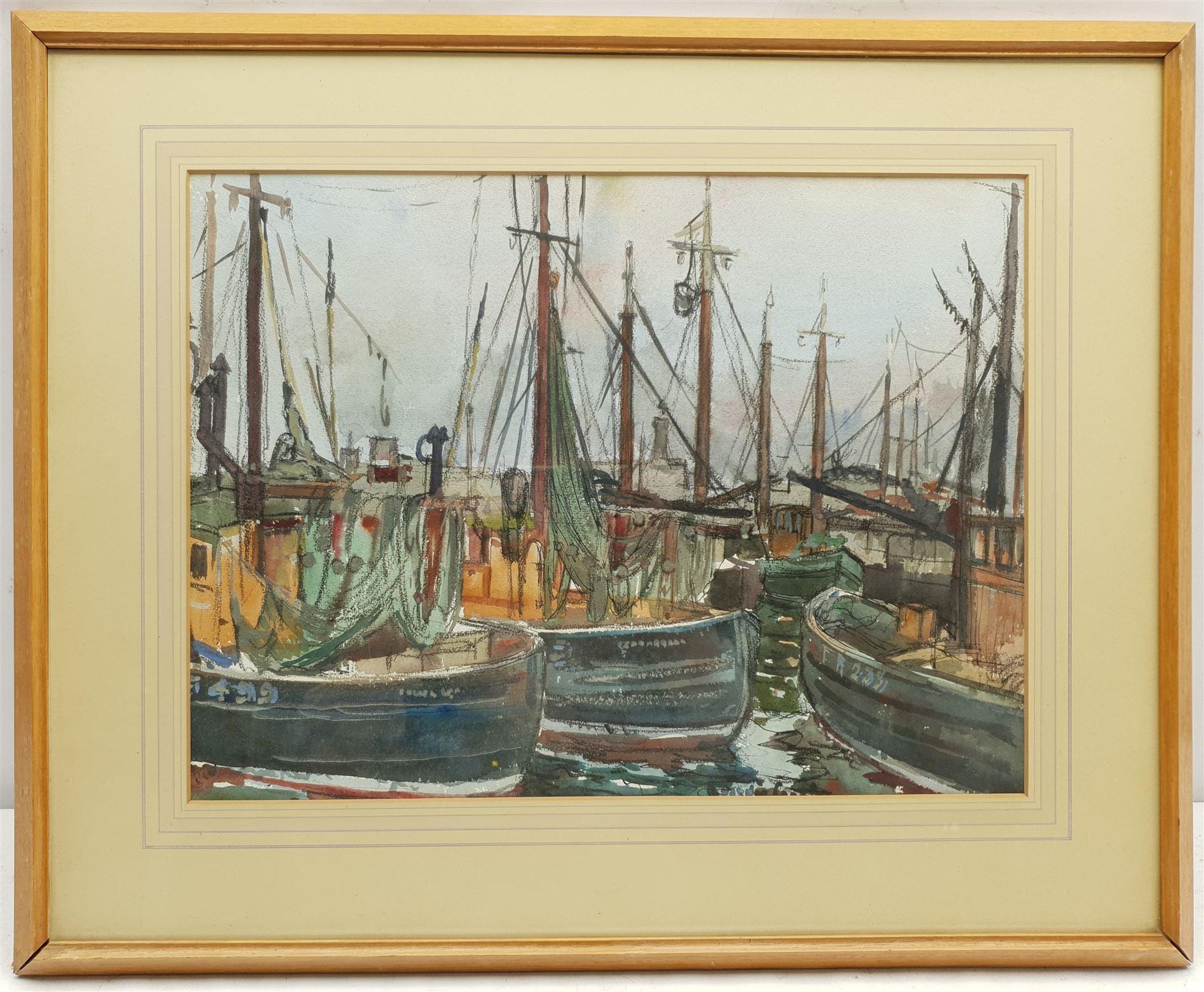 Robert Hardie Condie (Scottish 1898-1981): 'Masts and Nets Fraserburgh' - Image 2 of 4
