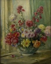 Owen Bowen (Staithes Group 1873-1967): Still Life of Spring Flowers