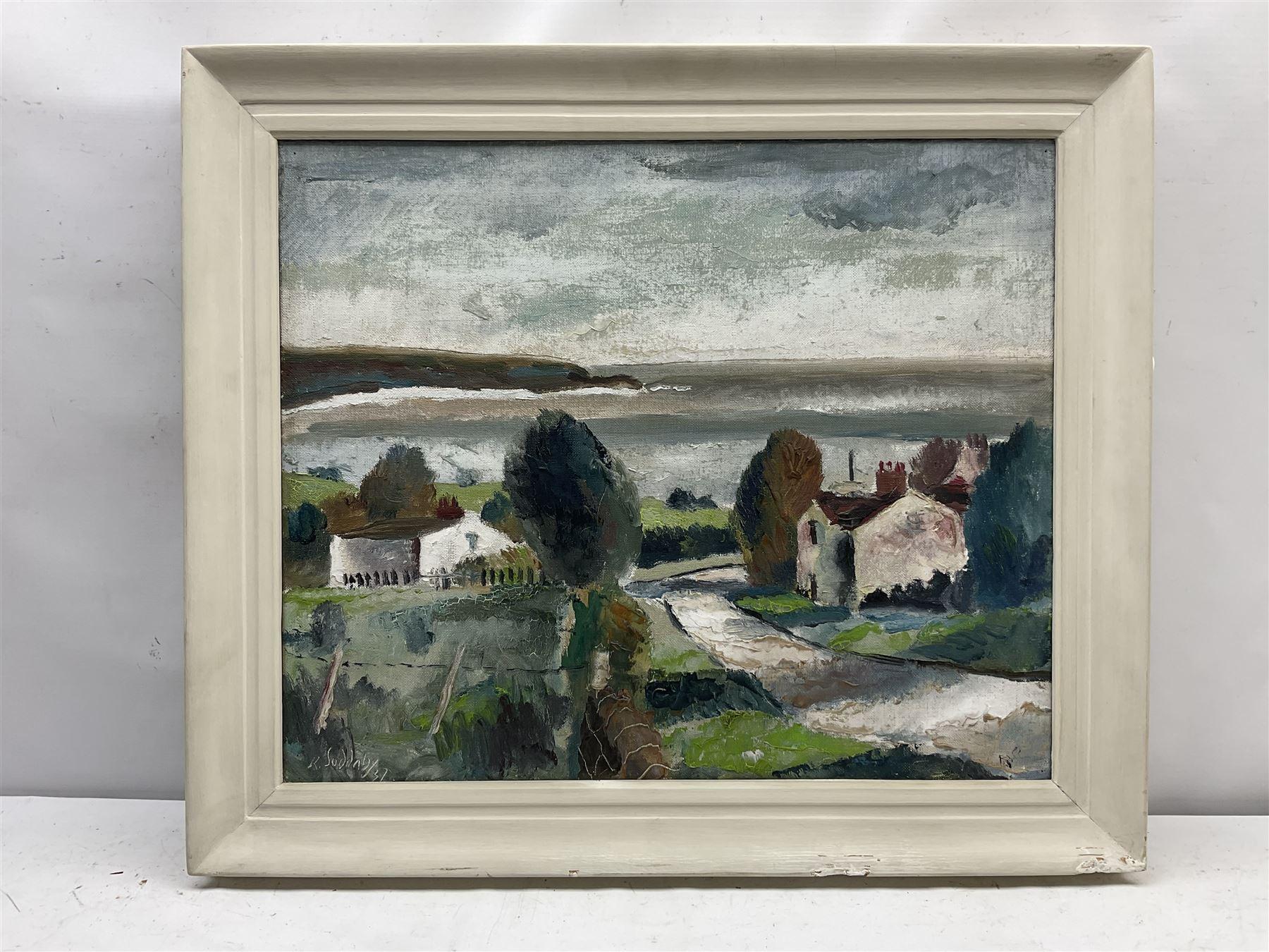 Rowland Suddaby (British 1912-1972): 'Coast near Whitby' - Image 2 of 4