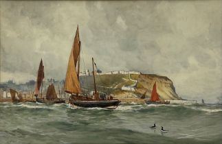 Ernest Dade (Staithes Group 1868-1934): Fishing Boats in the South Bay Scarborough