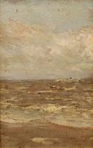 Paul Paul (Staithes Group 1865-1937): Waves Breaking on the Seashore