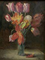 William Arthur Chase (British 1878-1944): Still Life of Tulips