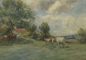 John Atkinson (Staithes Group 1863-1924): Cattle Grazing