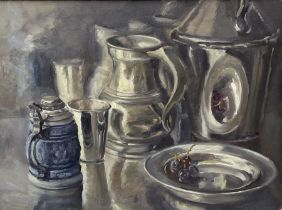 Neil Tyler (British 1945-): Still Life - 'Various White Metals'