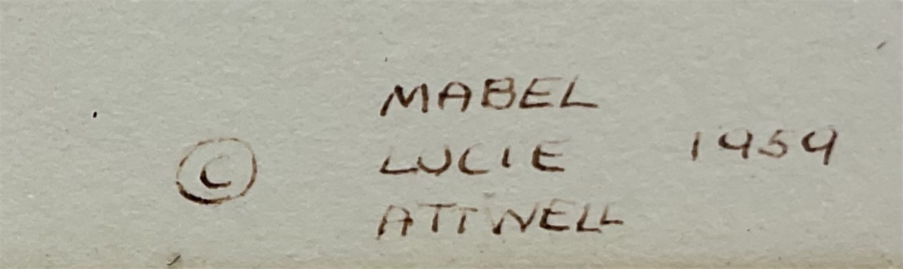 Mabel Lucie Attwell (British 1879-1964): 'Here's a Cheerio from Me' - Image 3 of 4