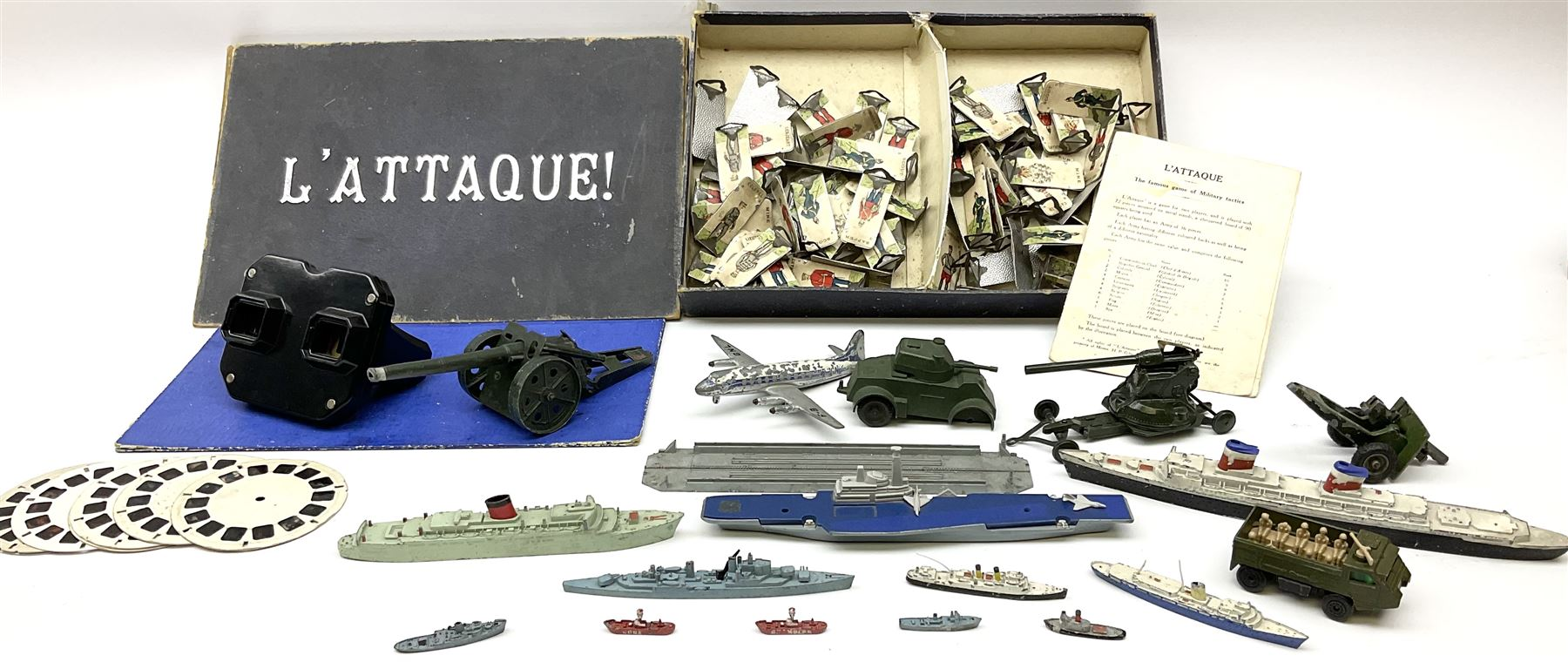 Various makers - unboxed and playworn die-cast models including eleven ships by Tri-ang - Image 2 of 6