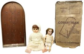 Simon & Halbig for Kammer & Reinhardt bisque head doll with applied hair