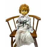 1950's Vinyl doll with applied hair