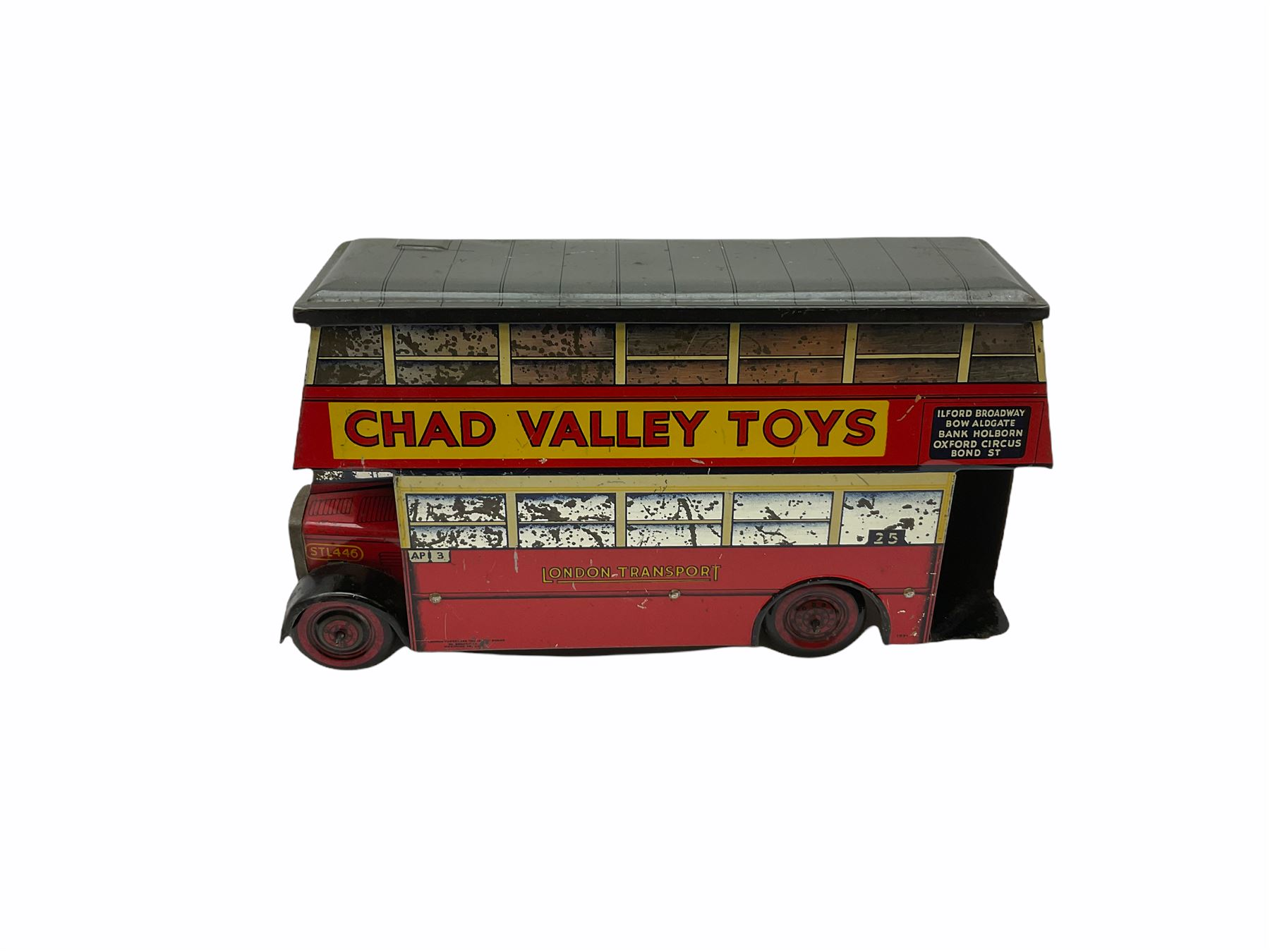 Chad Valley Carr�s Table Water Biscuits London Transport STL446 double decker bus biscuit tin - Image 2 of 6