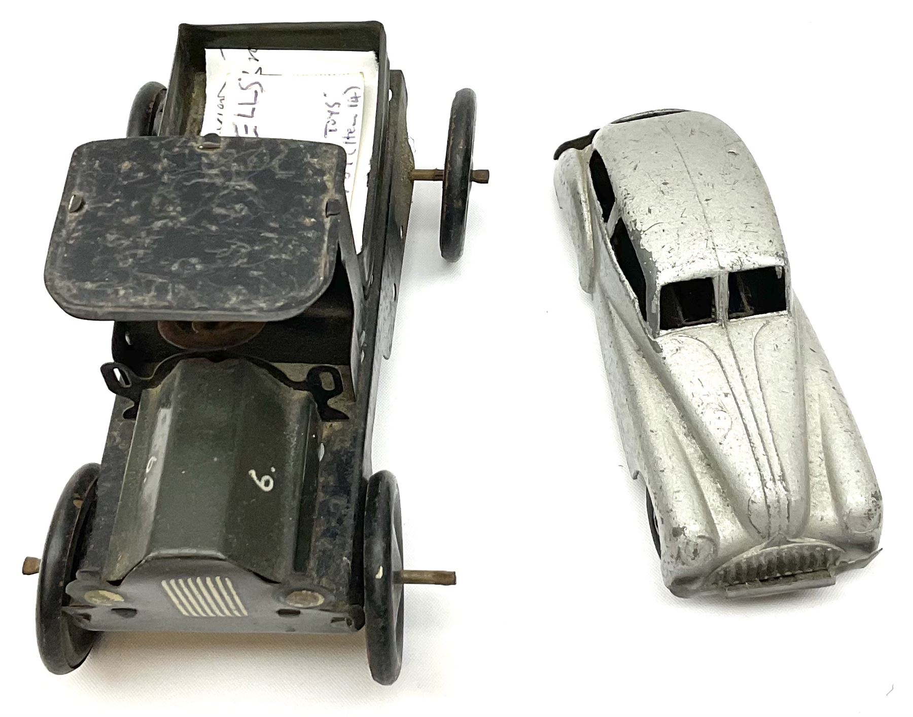 Wells Brimtoy/Pocketoy - eight tin-plate/clockwork or friction-drive vehicles comprising London Trol - Image 5 of 8