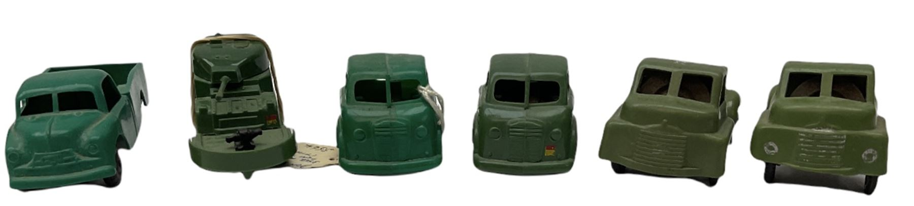 Tri-ang/Tri-ang Minic - twelve plastic friction-drive vehicles comprising Tri-ang Toys/Pedigree Pram - Image 3 of 7