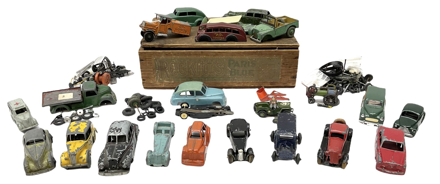 Various Makers - eleven unboxed and playworn early die-cast models