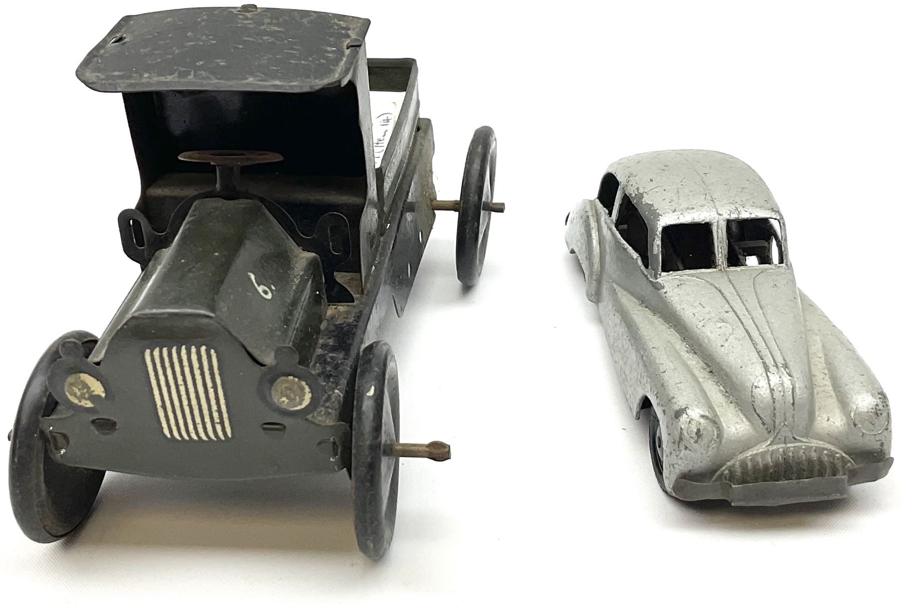 Wells Brimtoy/Pocketoy - eight tin-plate/clockwork or friction-drive vehicles comprising London Trol - Image 4 of 8