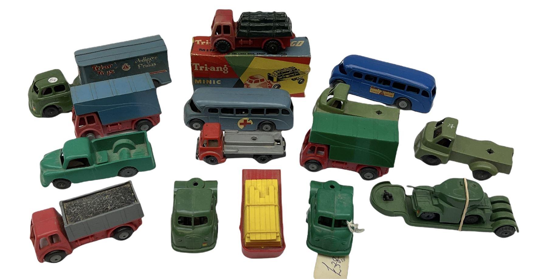 Tri-ang/Tri-ang Minic - twelve plastic friction-drive vehicles comprising Tri-ang Toys/Pedigree Pram - Image 2 of 7