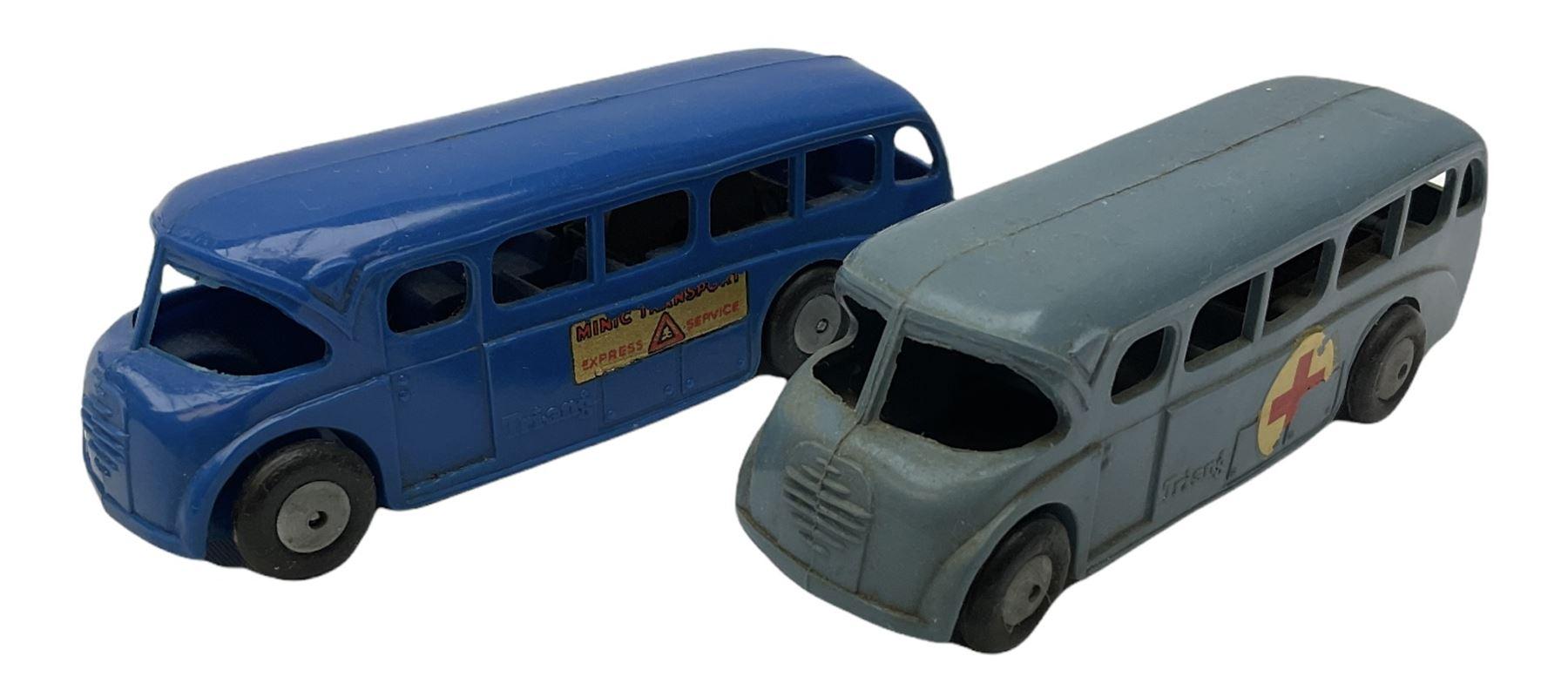 Tri-ang/Tri-ang Minic - twelve plastic friction-drive vehicles comprising Tri-ang Toys/Pedigree Pram - Image 6 of 7