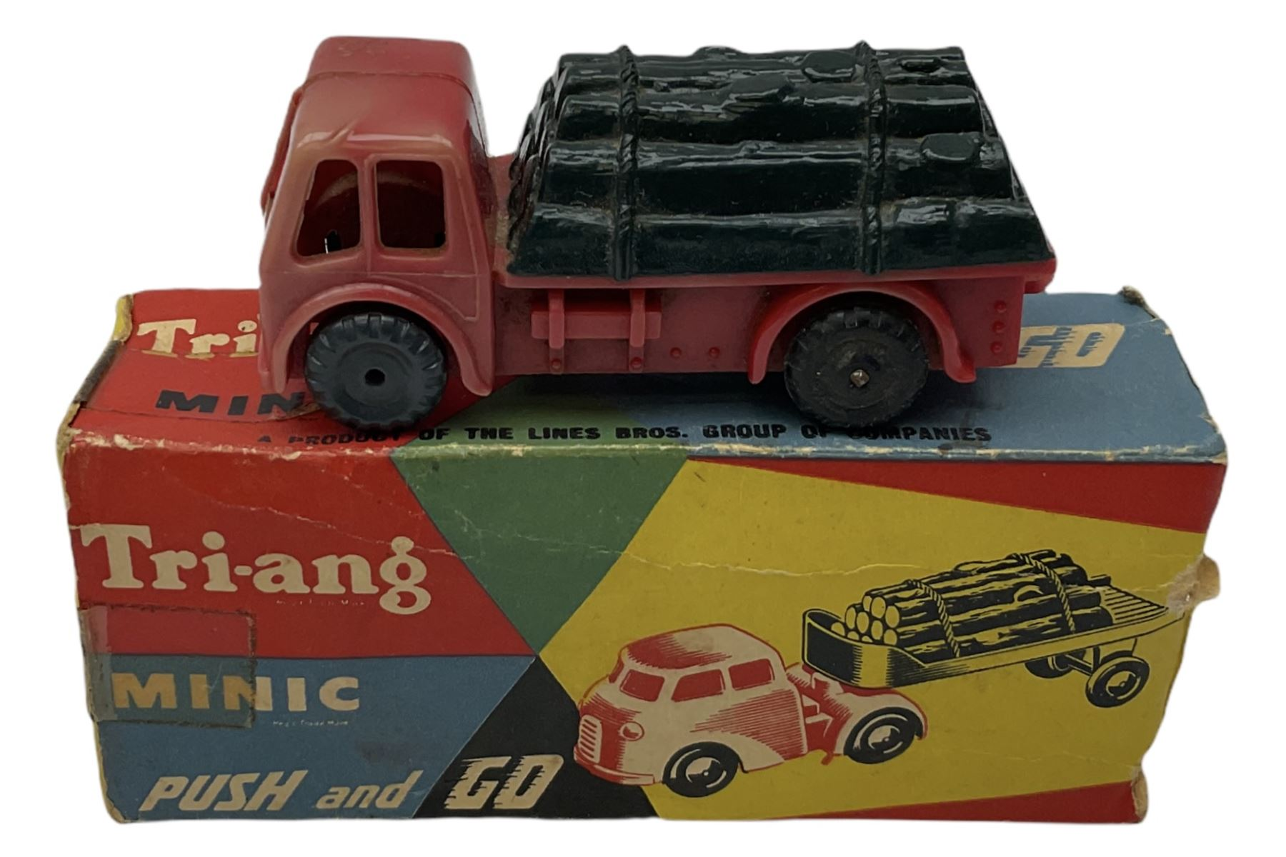 Tri-ang/Tri-ang Minic - twelve plastic friction-drive vehicles comprising Tri-ang Toys/Pedigree Pram - Image 4 of 7