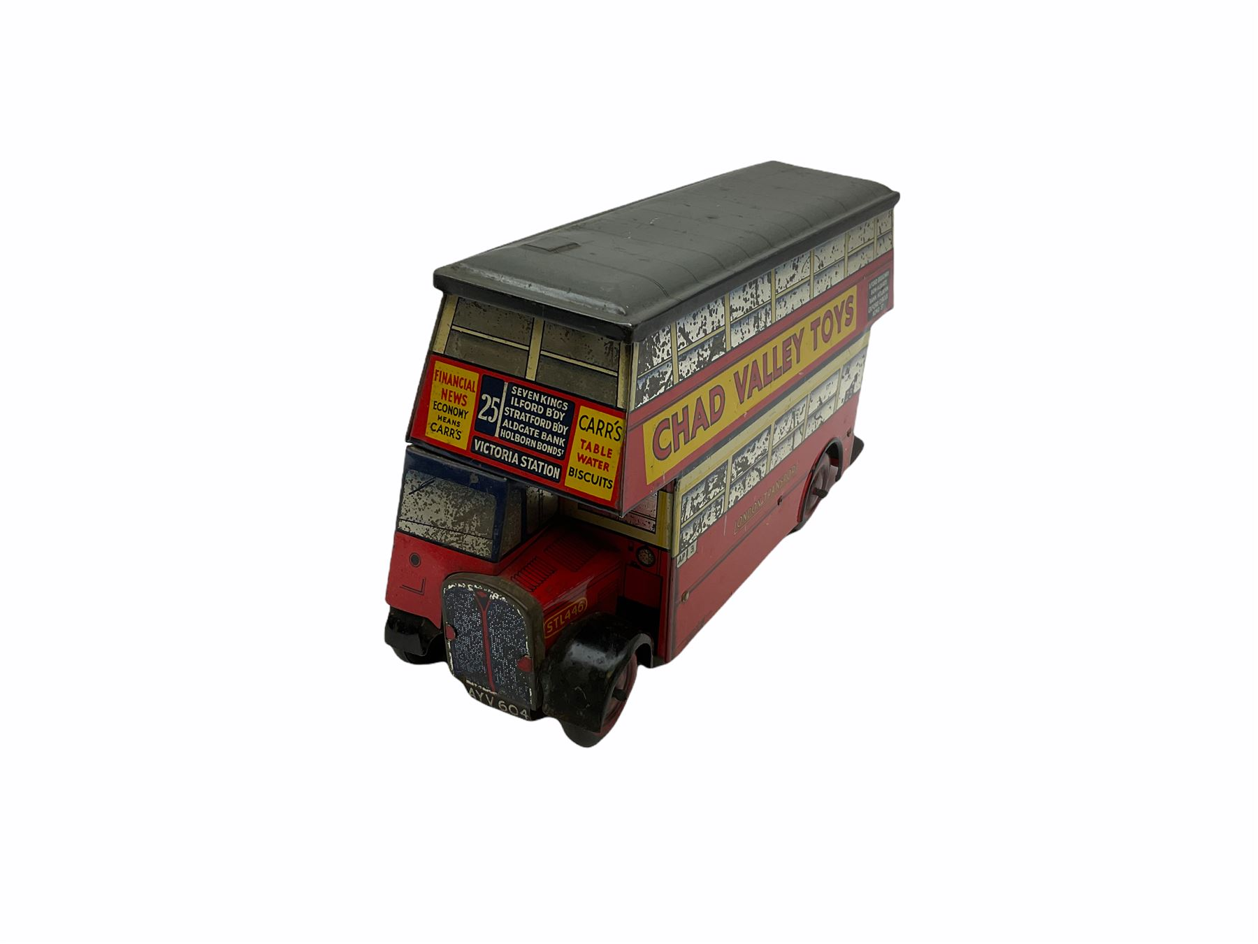 Chad Valley Carr�s Table Water Biscuits London Transport STL446 double decker bus biscuit tin - Image 3 of 6