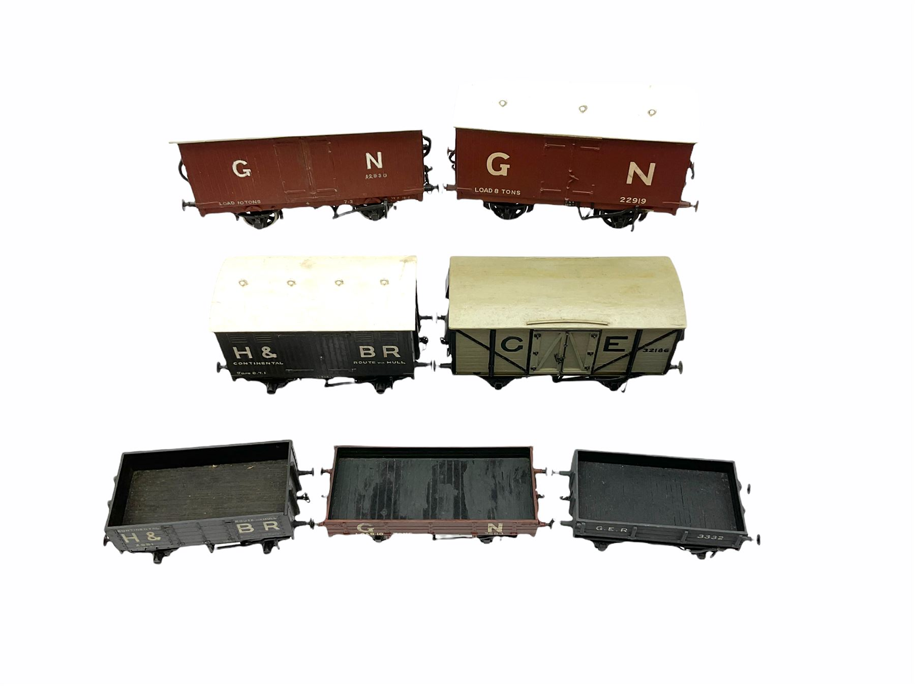 '0' gauge - two scratch-built Hull & Barnsley wagons including Continental covered wagon and open wa - Image 4 of 4