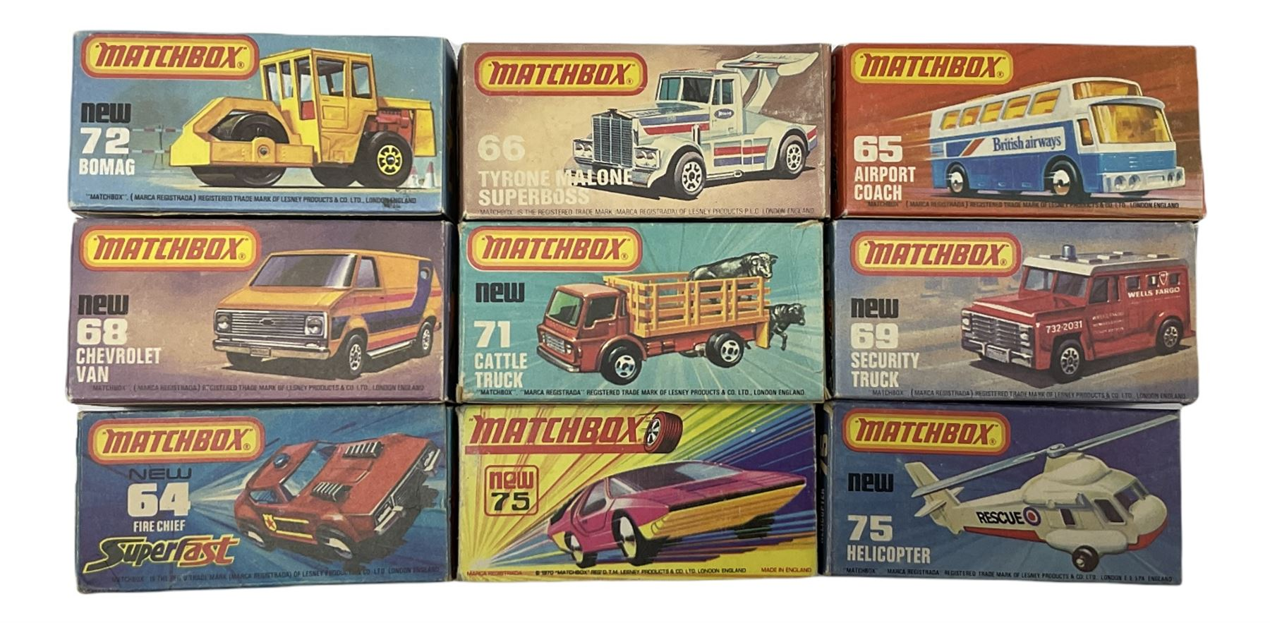 Matchbox/Superfast - nine '1-75' series models comprising 64d Fire Chief car - Image 2 of 8