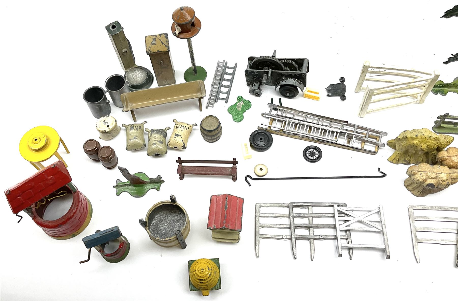 Various Makers - collection of lead/die-cast farm accessories including fences and gates - Image 8 of 8