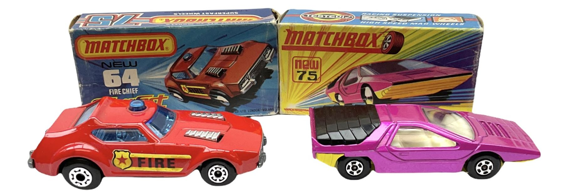 Matchbox/Superfast - nine '1-75' series models comprising 64d Fire Chief car - Image 4 of 8