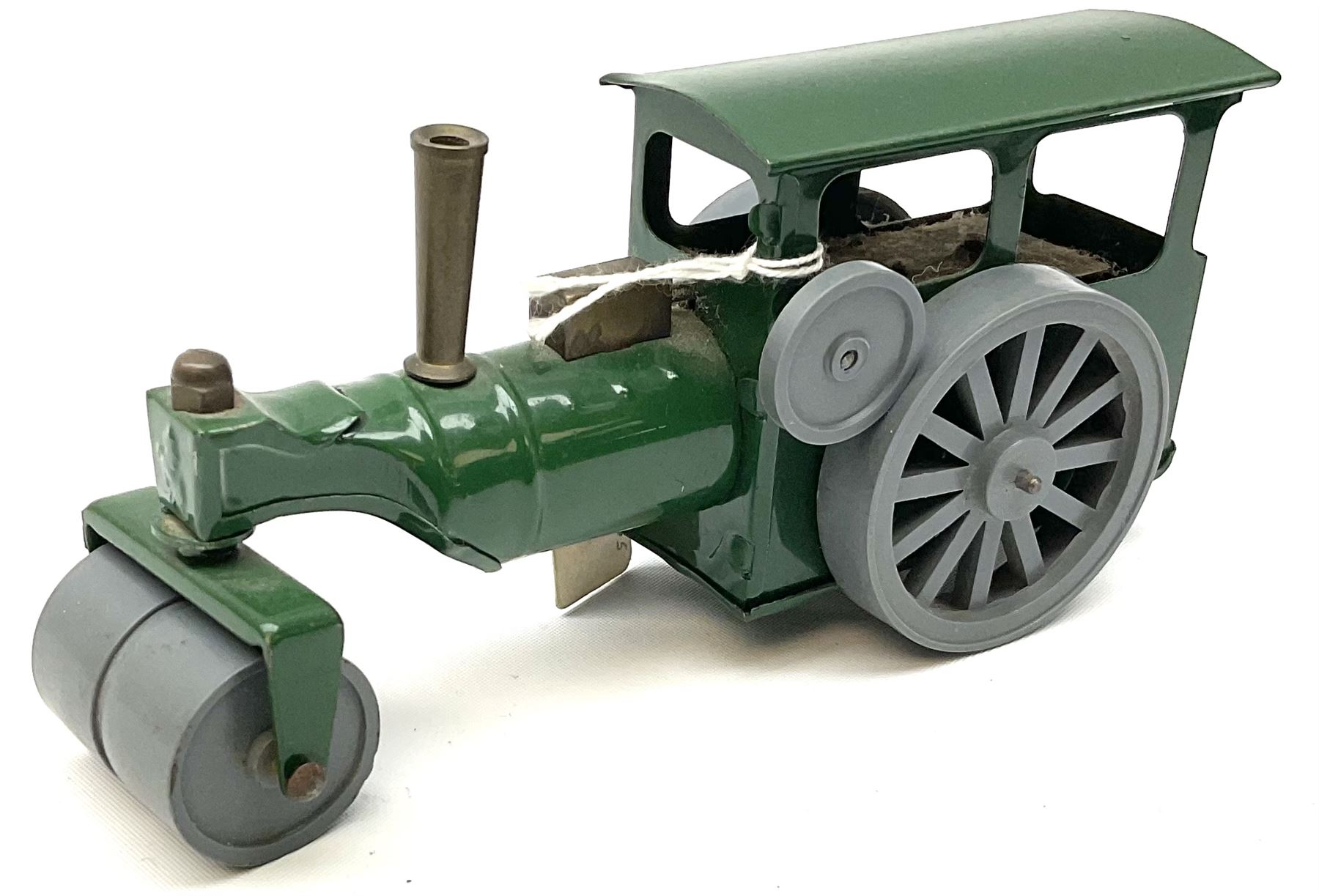 Five Tri-ang Minic tin-plate clockwork vehicles comprising Steam Roller - Image 7 of 9