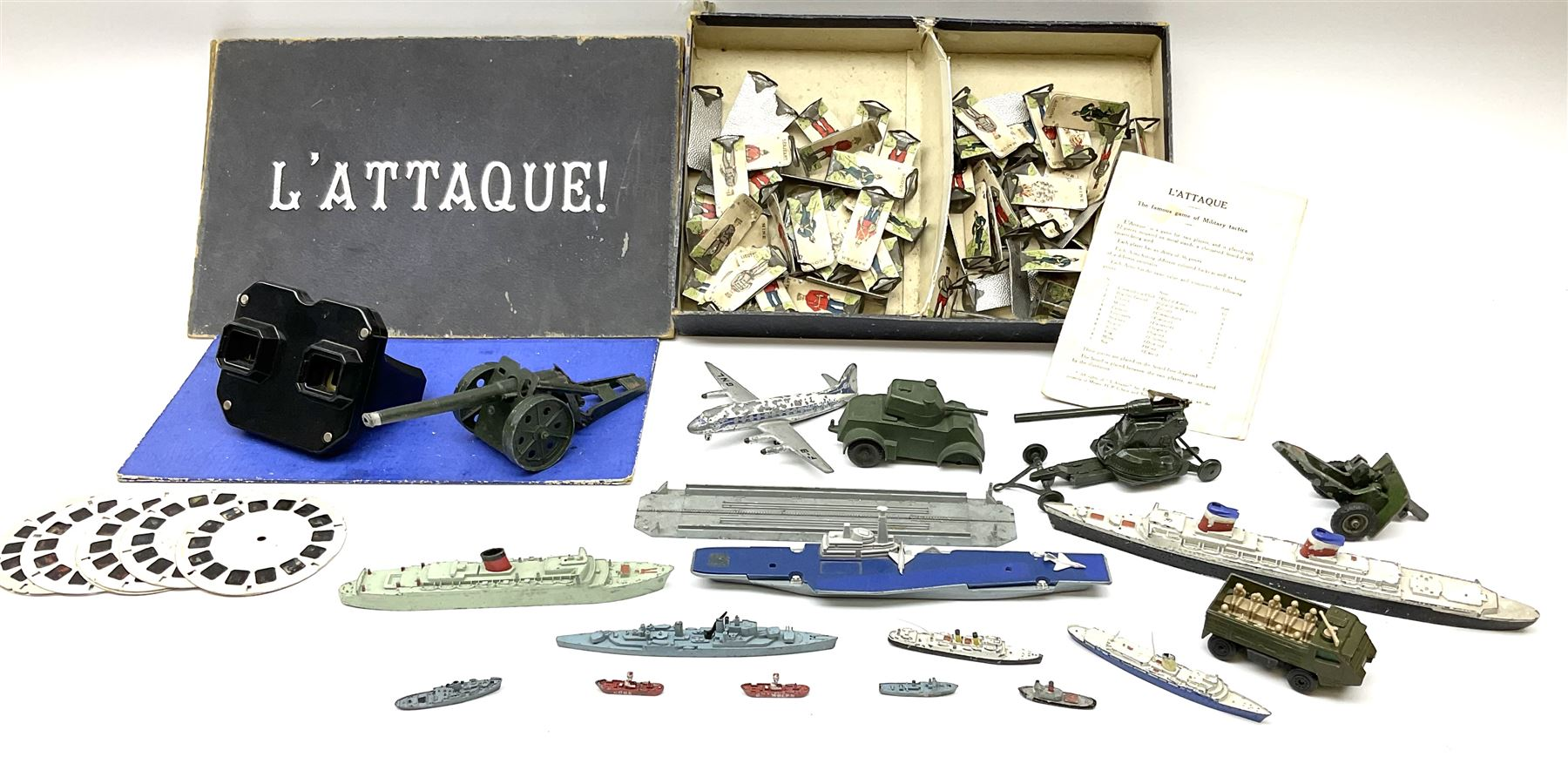 Various makers - unboxed and playworn die-cast models including eleven ships by Tri-ang