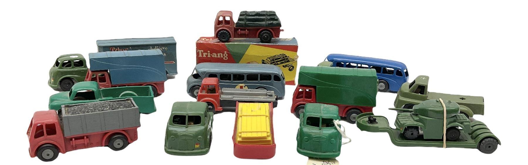 Tri-ang/Tri-ang Minic - twelve plastic friction-drive vehicles comprising Tri-ang Toys/Pedigree Pram