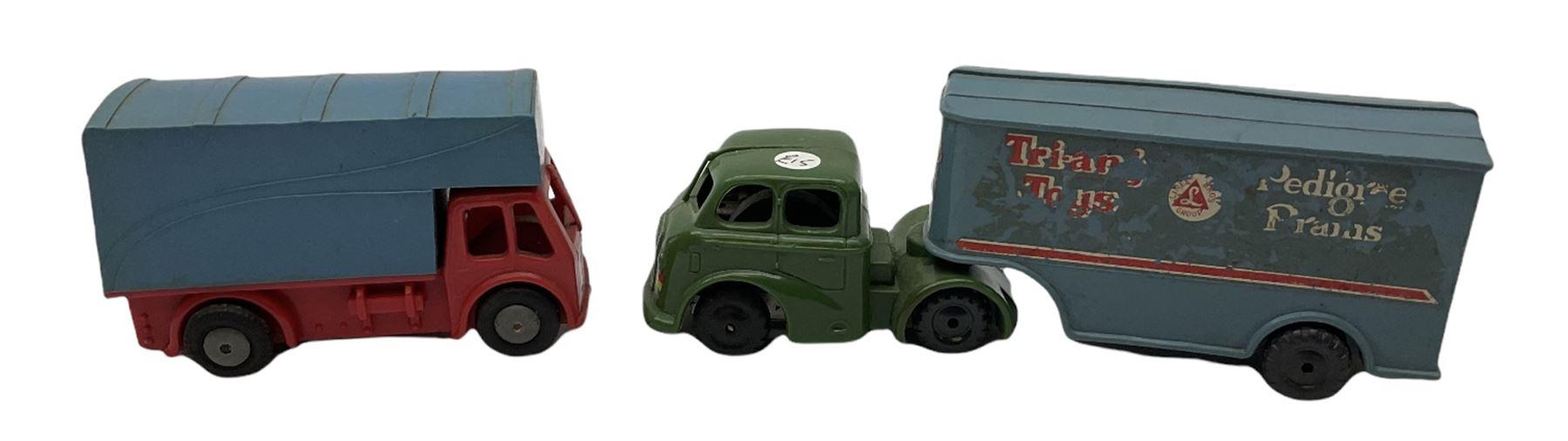 Tri-ang/Tri-ang Minic - twelve plastic friction-drive vehicles comprising Tri-ang Toys/Pedigree Pram - Image 7 of 7