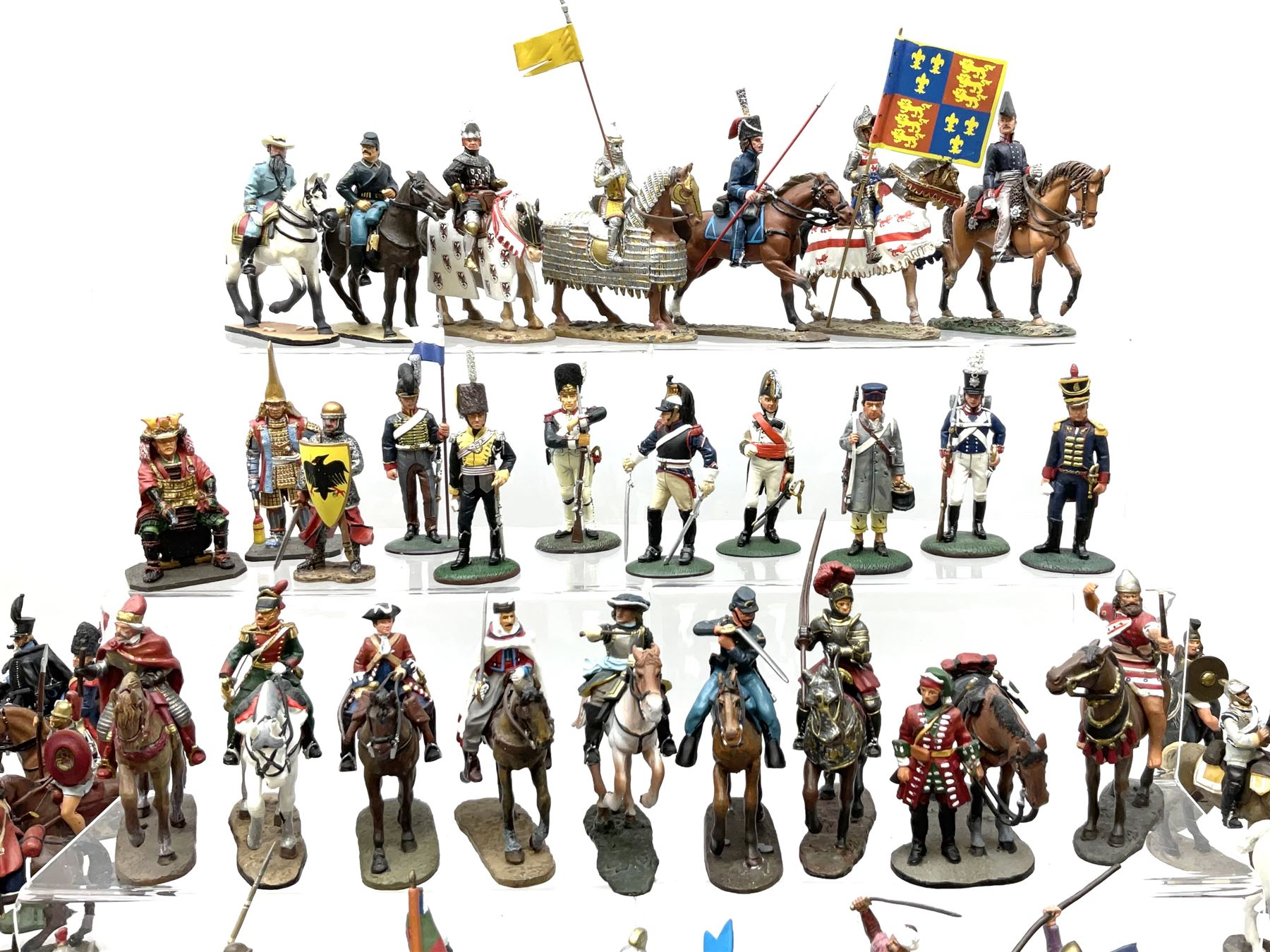 Ninety Del Prado cast metal mounted figures with two modern binders of periodicals entitled 'Cavalry - Image 2 of 9