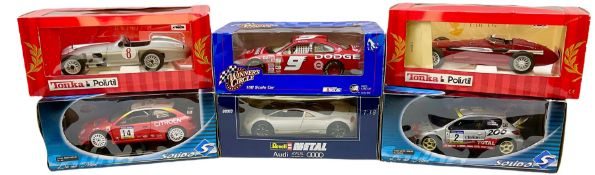 Six large scale die-cast models - Revell 1:18th scale Audi Avus Quattro; Winners Circle 1:18th scale