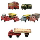 Wells Brimtoy/Pocketoy - seven tin-plate and plastic clockwork or friction-drive vehicles comprisin