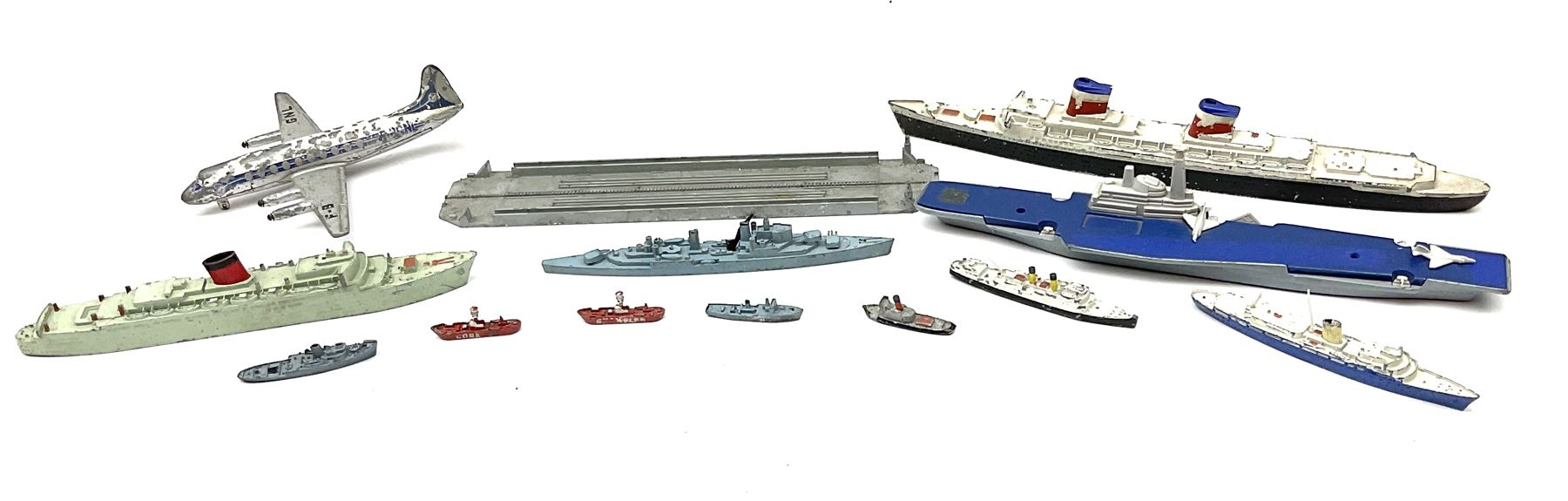 Various makers - unboxed and playworn die-cast models including eleven ships by Tri-ang - Image 3 of 6
