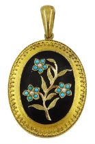 Victorian gold mourning pendant