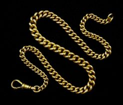 Early 20th century 18ct gold tapering watch/necklace curb chain