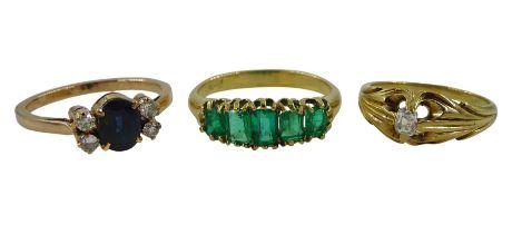 Victorian gold single stone diamond ring