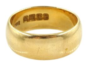 Early 20th century 18ct gold wedding band