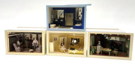 Four small dioramas
