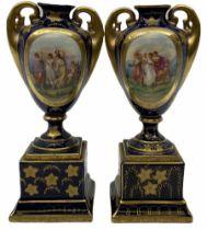 Pair of Vienna style urns