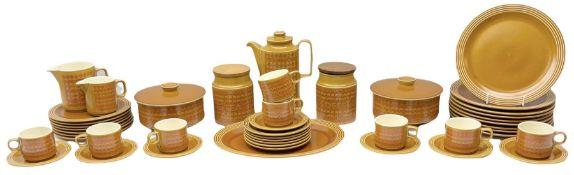 Hornsea Pottery Saffron pattern dinner and tea ware