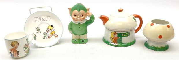 Shelley Boo Boo three piece tea set designed by Mabel Lucie Attwell