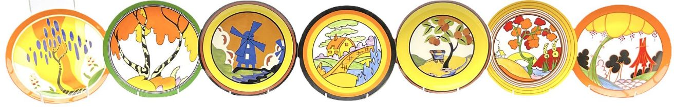 Seven limited edition Wedgwood Clarice Cliff plates