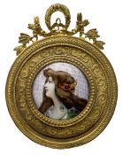 Late 19th/early 20th century Limoges enamel plaque