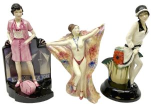 Three Kevin Francis figures produced by Peggy Davies ceramics