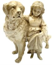 Late 19th/early 20th century German porcelain figure group
