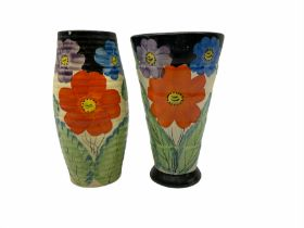 Two Art Deco vases in the manner of Grays pottery